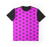 Flower on Hot Pink Graphic T-Shirt
