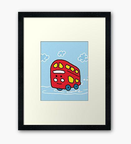 Simple Easy Red Bus Framed Print