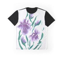 Irises, painted in gouache. Graphic T-Shirt