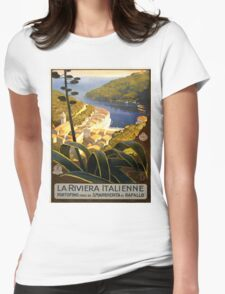 Vintage poster - La Riviera Italienne Womens Fitted T-Shirt