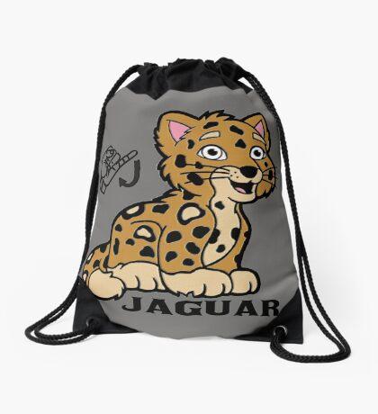 J is for Jaguar -  ASL Drawstring Bag