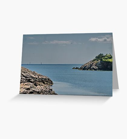 Looking Seaward Greeting Card