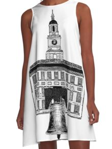 Graphic City of Brotherly Love A-Line Dress