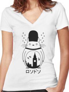 Londotoro Women's Fitted V-Neck T-Shirt