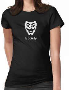 Fsociety Mask (Mr. Robot) Womens Fitted T-Shirt