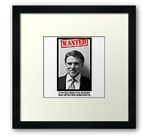 RICK PERRY MUG SHOT Framed Print