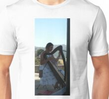 Harpist in Ronda_Spain Unisex T-Shirt