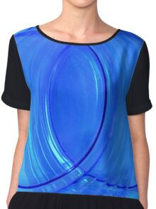 Collectible Blue Glass Abstract Chiffon Top