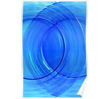 Collectible Blue Glass Abstract Poster