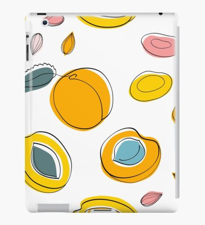 Seamless pattern Apricot jam and dried apricots iPad Case/Skin