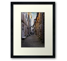 Narrow Street in Old Town Framed Print