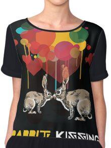 Rabbit kissing Chiffon Top