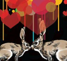 Rabbit kissing Sticker