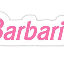 Barbaric Pink Barbie Font Sticker