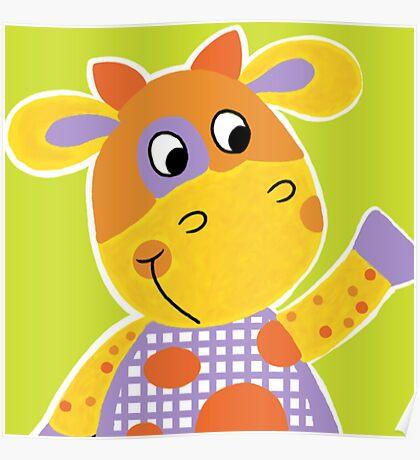 Farm Animals - Little Cow Poster