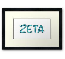 ZETA Framed Print