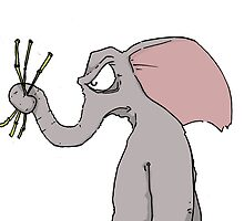 Irate Elephant by TheKingLobotomy