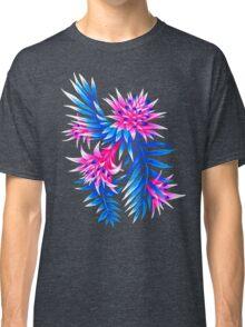 Fasciata Tropical Floral - Mid Blue/Pink Classic T-Shirt