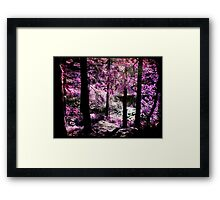 A purple forest by the lake Framed Print