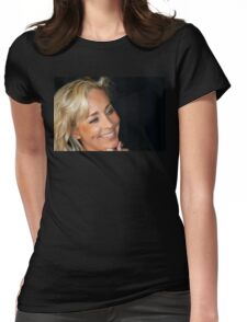 Blond Woman Smiling Womens Fitted T-Shirt