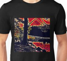 a tree by the burning sky Unisex T-Shirt