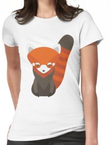 Red Panda Vector Womens Fitted T-Shirt