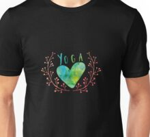 Yoga Love Heart Shape Unisex T-Shirt