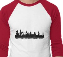 welcome to the windy city Men's Baseball ¾ T-Shirt