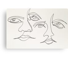One Line Two Faces Canvas Print