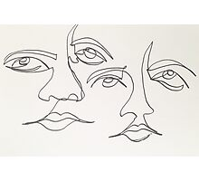 One Line Two Faces Photographic Print