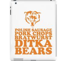 Sausage. Ditka. Bears. iPad Case/Skin
