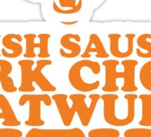 Sausage. Ditka. Bears. Sticker