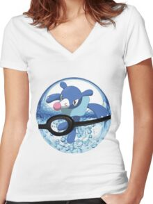 Popplio Women's Fitted V-Neck T-Shirt