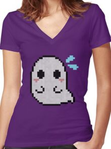 Spooked Spook Women's Fitted V-Neck T-Shirt