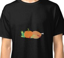 Thanksgiving Turkey and Pumpkin Classic T-Shirt