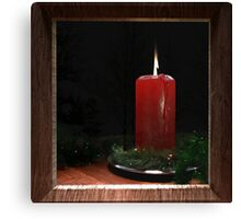 Christmas Candle in the Window Canvas Print