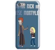 Doctor Rick and Rose Mortyler iPhone Case/Skin