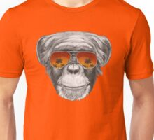 Monkey with mirror sunglasses Unisex T-Shirt
