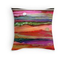 """""""Many Moons Ago"""" - Colorful, Stunning, Original Artist's Creation Throw Pillow"""