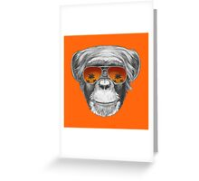 Monkey with mirror sunglasses Greeting Card