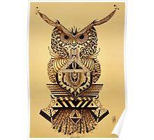 Buho Mandala Azura  Poster