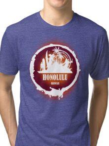 Summer Day At The beach Honolulu Tri-blend T-Shirt