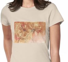 Coffee Daisies Womens Fitted T-Shirt