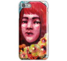 Flower Girl I (Red/Hibiscus) iPhone Case/Skin