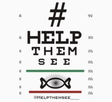 Help Them See - Eye-Chart Shirt One Piece - Short Sleeve