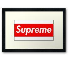 Supreme Box Logo Framed Print