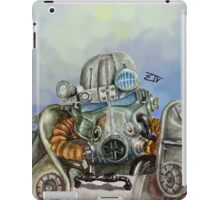 Watercolor of Fallout 4 Power Armor iPad Case/Skin