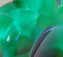 Vintage Blenko Water Bottle in Green Sticker