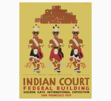 Vintage poster - Indian Court Federal Building Baby Tee