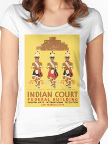 Vintage poster - Indian Court Federal Building Women's Fitted Scoop T-Shirt